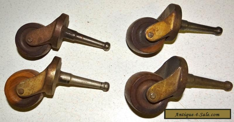 Antique Furniture Casters Wooden Wheels