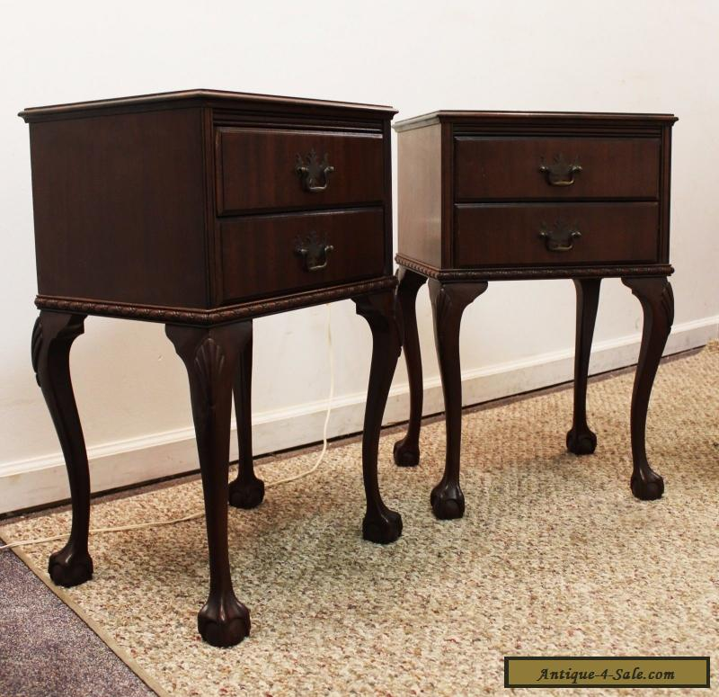 vintage nightstands for sale vintage pair of mahogany chippendale amp claw foot 1 6851