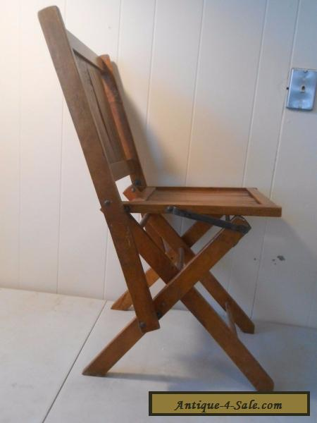 Antique Simmons Co.? Wooden Folding Chairs Vintage Wood Slat Seat for Sale  ... - Antique Simmons Co.? Wooden Folding Chairs Vintage Wood Slat Seat