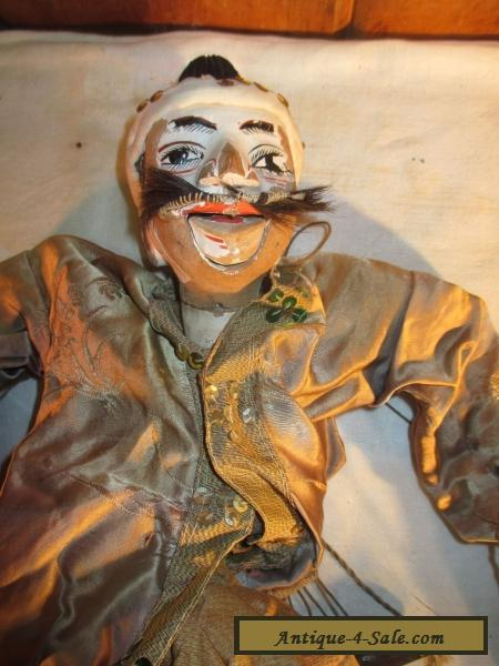 Antique Marionette Puppet Old Chinese Master Painted Wooden Head Amp Features Doll For Sale In