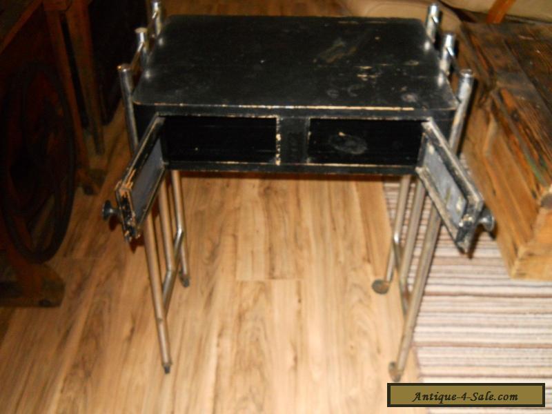 vintage art deco barbershop manicure table for sale in canada. Black Bedroom Furniture Sets. Home Design Ideas
