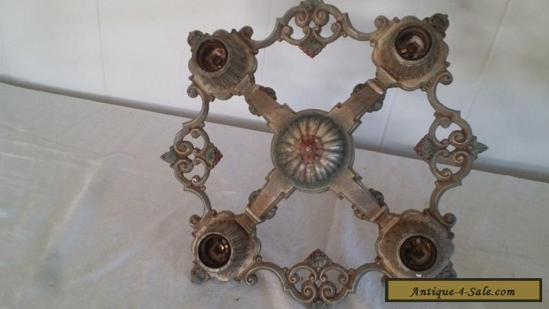Antique Art Deco Chandelier 1920\'s Riddle Ceiling Light Fixture ...
