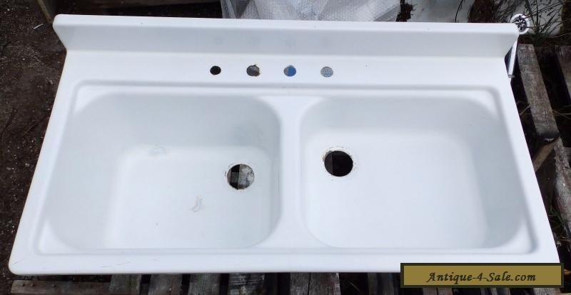 shallow sinks in kitchen vintage steel white porcelain basin shallow 5173