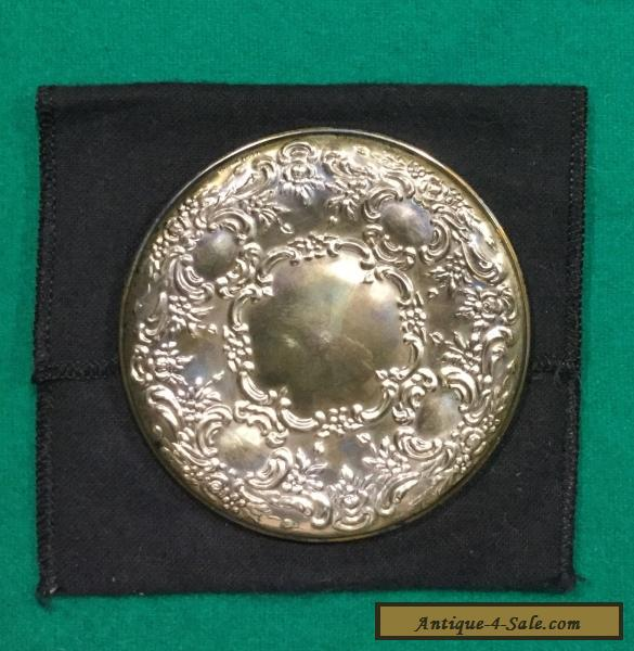 Antique Hand Mirror Value: Vintage Towle Sterling Silver Hand Compact Mirror Floral