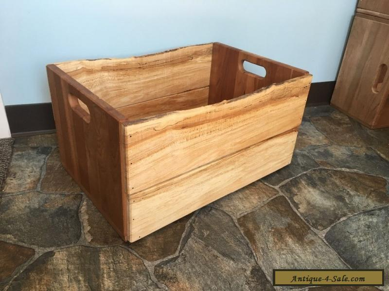 Large Wooden Crate Handcrafted Reclaimed Wood Box For Sale