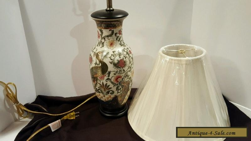 Vintage chinese porcelain ceramic hand painted table lamp with ivory vintage chinese porcelain ceramic hand painted table lamp with ivory shade for sale aloadofball Images