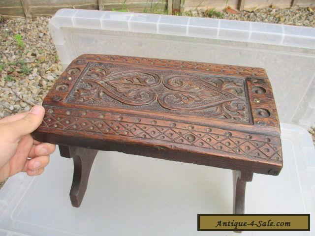 antique stools for sale small antique oak stool bench seat carved wood jacobean 4132