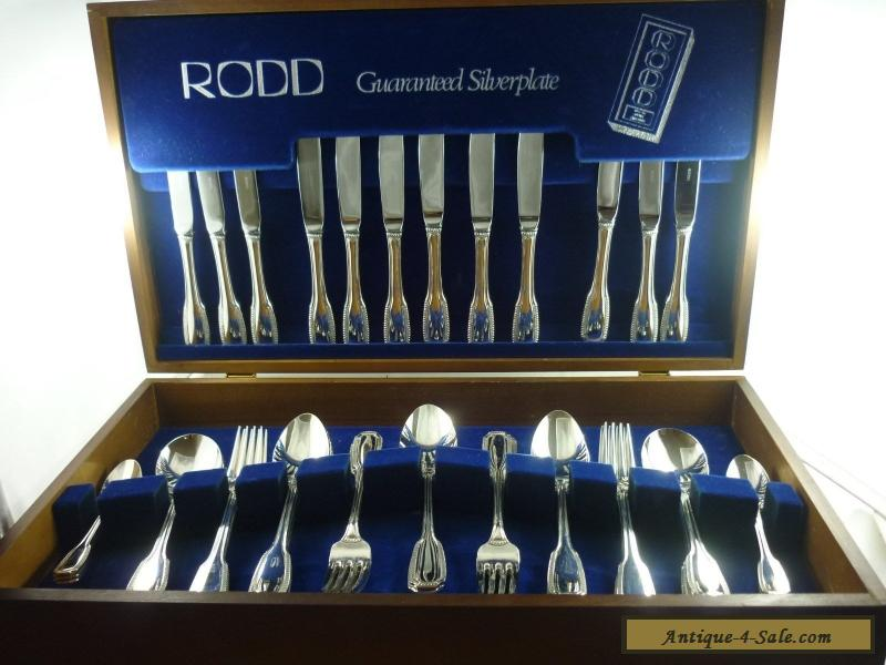 Exquisite Vintage Silver 44pce Rodd Cutlery Set In Box