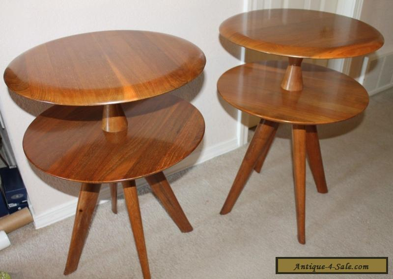 2 bissman vtg 1950 39 s side tables mid century danish modern for Danish modern reproduction