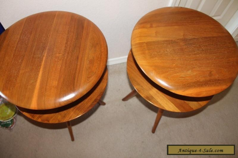 2 BISSMAN Vtg 1950's SIDE TABLES Mid-Century Danish Modern ...