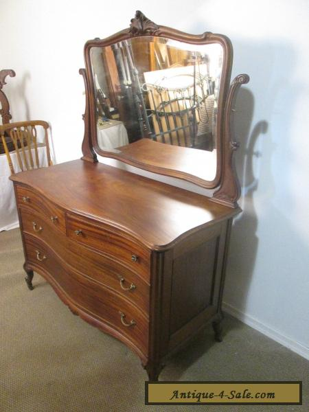 57302 Antique Mahogany Dresser Chest With Mirror For Sale