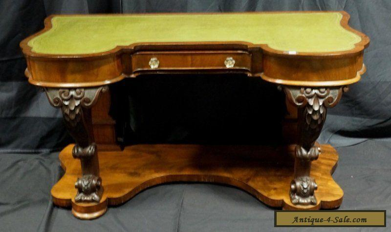 Empire carved desk with leather top th century s
