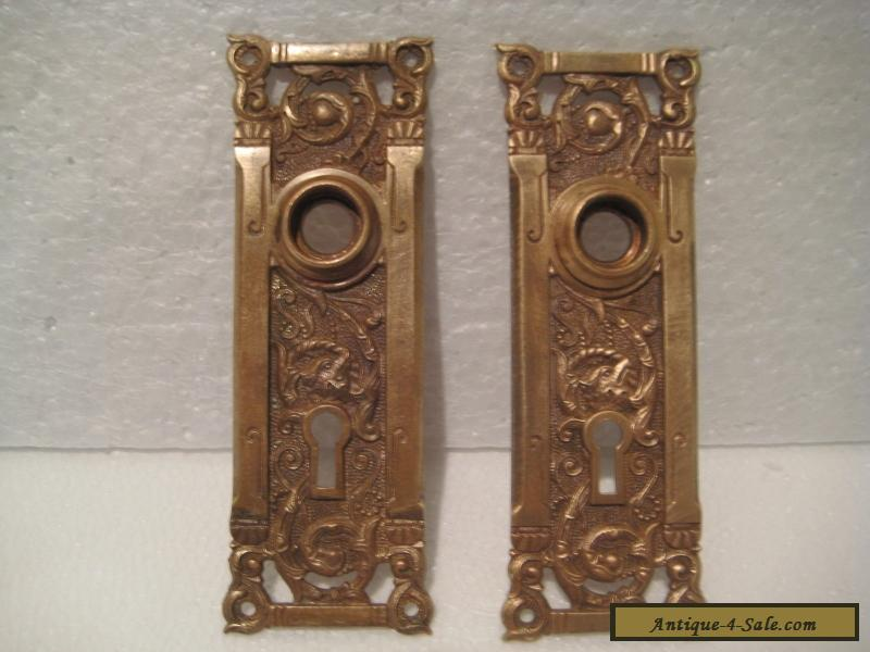 Vintage / Antique /Rare/ Brass Door Plates with !! FOX HEAD ! & Vintage / Antique /Rare/ Brass Door Plates with !! FOX HEAD !! and ...