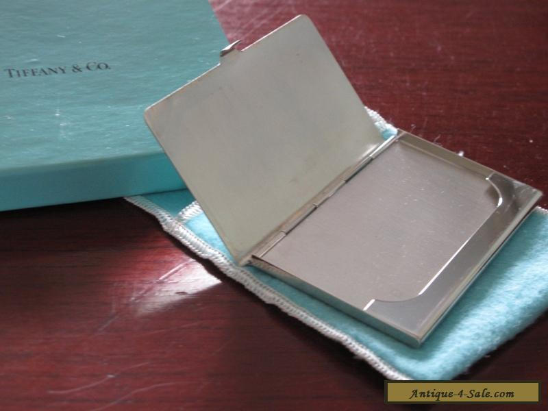 Tiffany & Co Silver (silverplate) business card case plus original ...