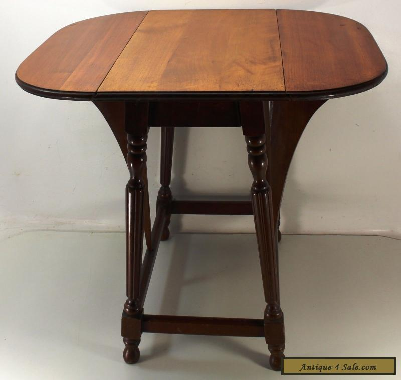 Solid Wood Coffee And End Tables For Sale: Set Of 2 Mahogany Pembroke Drop Leaf End Side Hall Tables