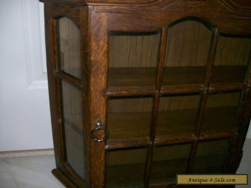 ... Antique/Vintage All Wood (Oak?) Large Curio Wall Display Cabinet for  Sale - Antique/Vintage All Wood (Oak?) Large Curio Wall Display Cabinet