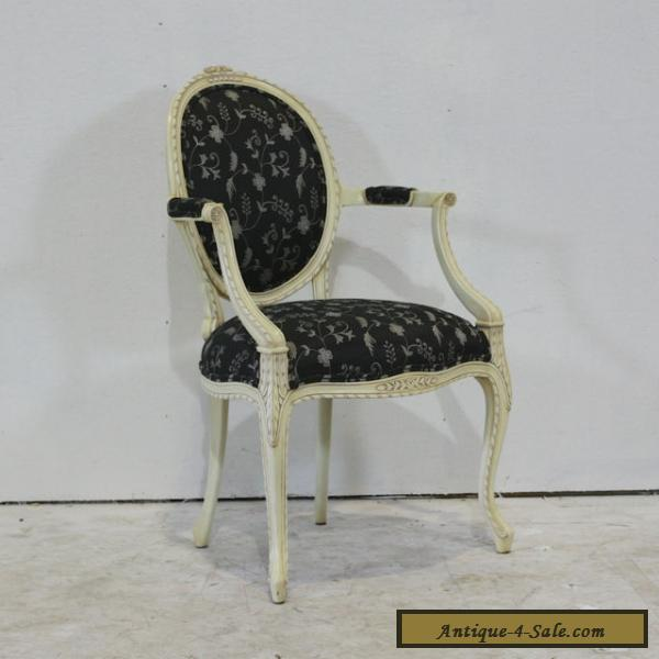 set of 6 louis xv style dining arm chairs mahogany for sale in