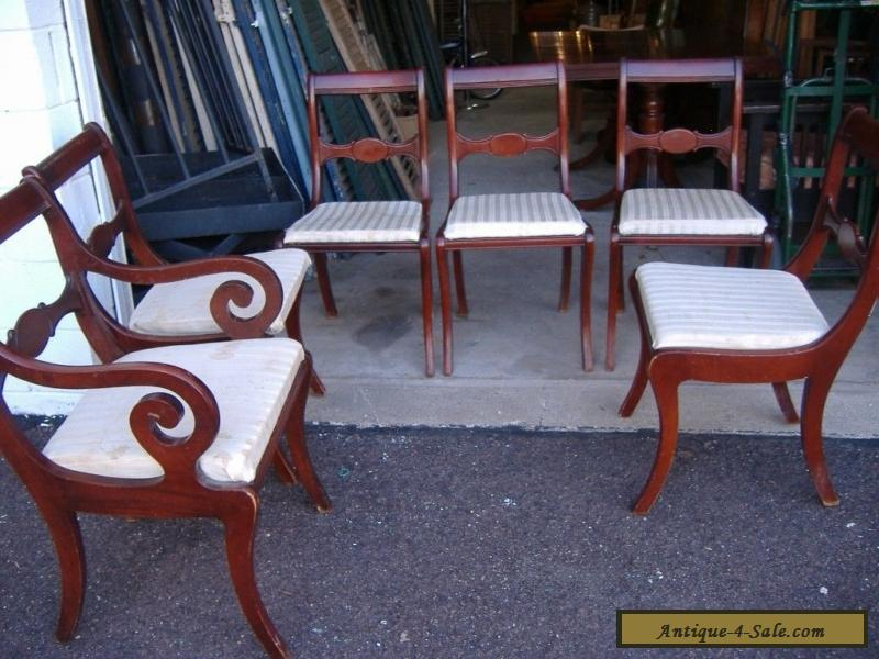 Set of 6 Mahogany Dining Chairs Vintage Antique Strawbridge Clothier for  Sale - Set Of 6 Mahogany Dining Chairs Vintage Antique Strawbridge Clothier