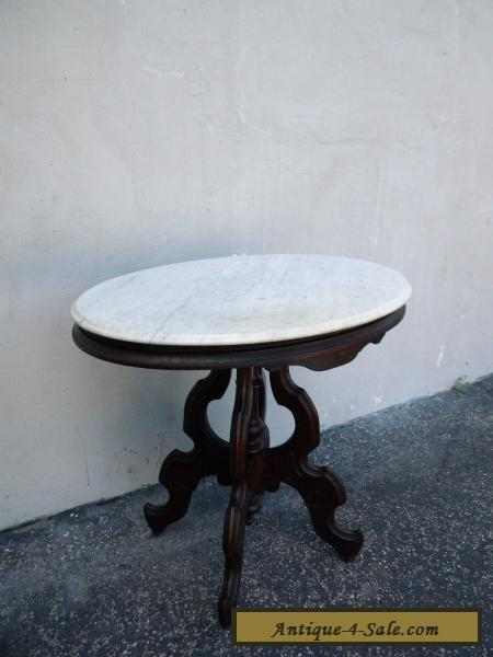 Victorian Marble Top Side Table End Table 5909 For Sale