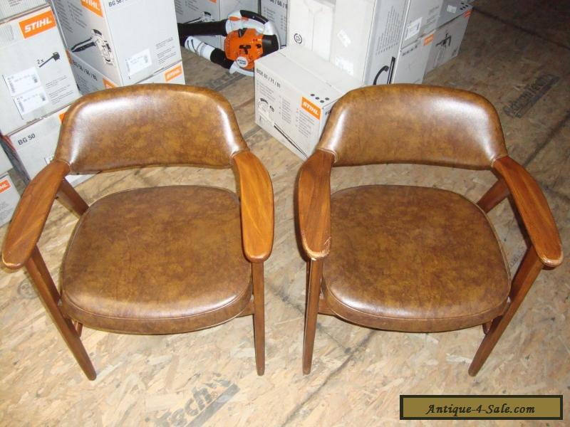 Pair Vintage Mid Century Modern Paoli Chair Solid Wood Arm Chairs For