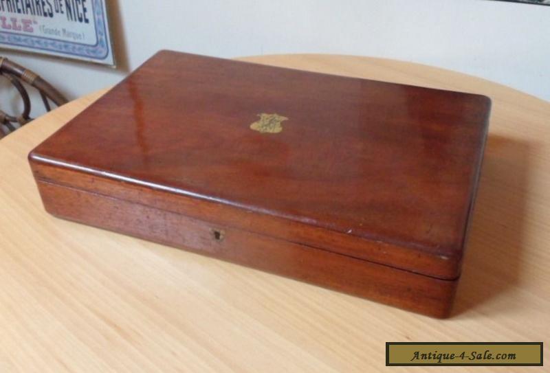 vintage wooden box with hinged lid for sale in united kingdom. Black Bedroom Furniture Sets. Home Design Ideas