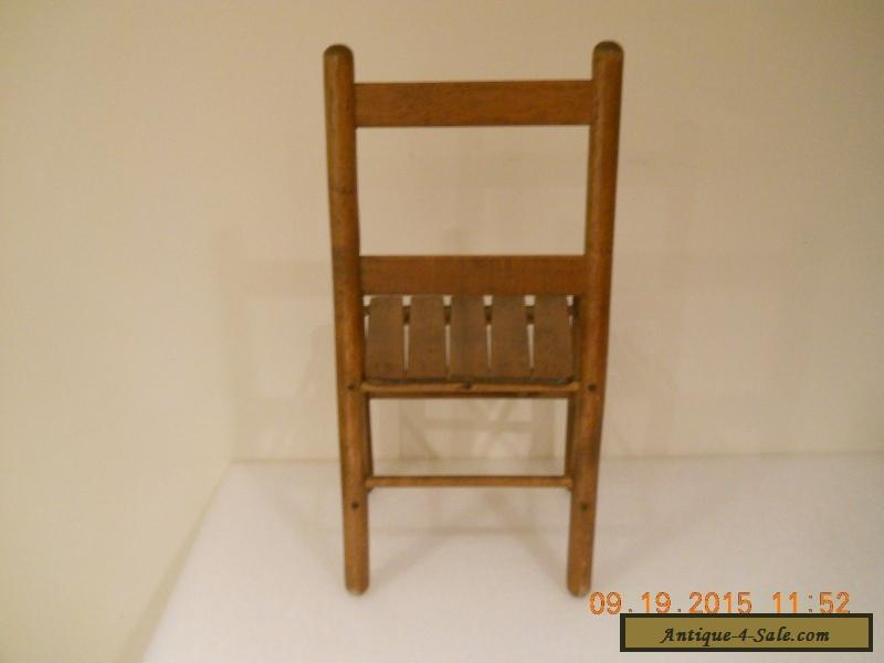 Antique Vintage Wood Child Youth Slat Chair Mid Century for Sale ... - Antique Vintage Wood Child Youth Slat Chair Mid Century For Sale In