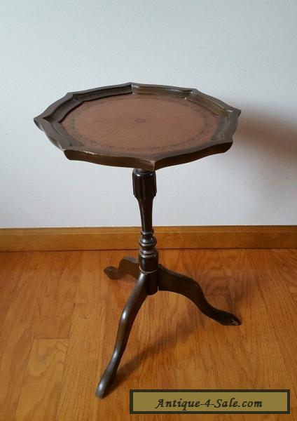 Vintage Leather Top Plant Stand Side End Table for Sale in United States