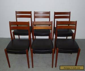 6 Vintage Danish Modern Solid Teak Svagards Markarvd Side Dining Chairs 090708 for Sale