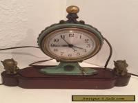 Vintage Clock - Antique Style - Antique Bronze Circus Clown Dogs