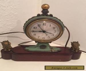 Vintage Clock - Antique Style - Antique Bronze Circus Clown Dogs for Sale
