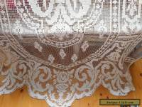 Antique fillet lace curtain