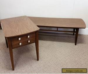 VINTAGE MID CENTURY MODERN COFFEE SIDE/END TABLES RETRO WOOD FAUX WOOD TOP for Sale