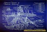 "Sailing Ship Mast & Rigging Blueprint Plan Drawing 20""x24"" (012) for Sale"