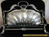 silver PLATED BISCUIT BOX