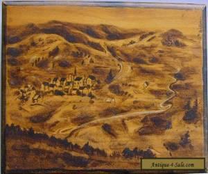 Vintage Wooden Box depicting Altglashutten Black Forest Germany for Sale