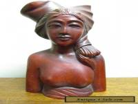 Vintage antique Balinese Woman carved nude sculpture 2