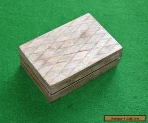 Vintage Wooden Trinket Box for Sale