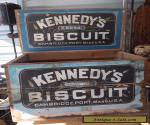 Antique Rare Old Advertising Wooden Kennedy's Biscuit General Store Display Box  for Sale