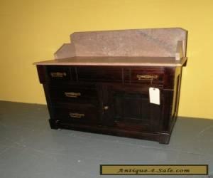 Antique Eastlake Style Marble Top Bedroom Washstand Dresser Table for Sale