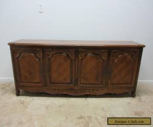 Vintage Thomasville Country French Carved Long Server Sideboard buffet Cabinet for Sale