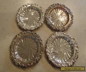 Wallace Baroque Silverplate Coaster Set of 4 743 for Sale