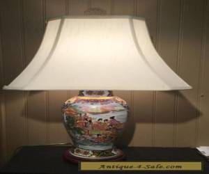 Antique Chinese Hand Painted Porcelain Lamp for Sale