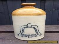 VINTAGE ANTIQUE CERAMIC FRANCIS CORDIAL DEMIJOHN MELB MADE