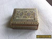 vintage inlaid box