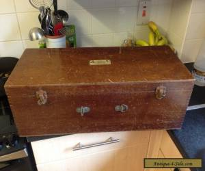 Vintage / antique Electrolux Wooden chest trunk Box Case collectible  for Sale