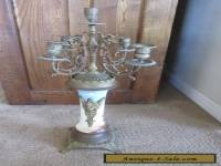 "Beautiful ANTIQUE French Bronze & Porcelain Candelabra Large 23"" tall Ornate Old"