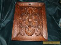 Exceptional 19th Century Carved Tiger Oak Cabinet Panel