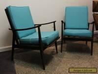 Pair of Matching Mid Century Danish Modern Walnut Lounge Chairs-Very Cool!!!