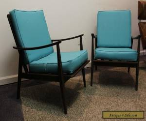 Pair of Matching Mid Century Danish Modern Walnut Lounge Chairs-Very Cool!!! for Sale