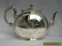 Antique Victorian 1870's RARE SHAPE Philip Ashberry & Sons Silver Plated Teapot